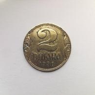 2 Dinar Münze Aus Jugoslawien Von 1938 (sehr Schön) - Jugoslawien