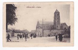 14 VER Sur MER Vers Courseulles L'Eglise édit Du Bon Marché VOIR ZOOM Personnages - Courseulles-sur-Mer