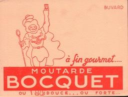Ancien BUVARD Illustré Moutarde BOCQUET à YVETOT 76 - Moutardes