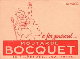 Ancien BUVARD Illustré Moutarde BOCQUET à YVETOT 76 - Mostaza