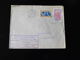 PREMIER SERVICE HEBDOMADAIRE ENTRE TANANARIVE ET LE SUD DE L'ILE  -  1937  - - Postmark Collection (Covers)