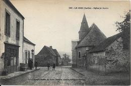 LE GREZ Eglise Et Mairie - France