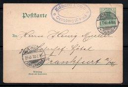 ENTIER POSTAL 1901 CRONBERG TAUNUS FRANKFURT - Germany