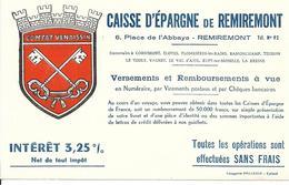 Buvard - Caisse Epargne Remiremont - Comtat Venaissin - Banque & Assurance
