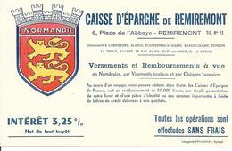 Buvard - Caisse Epargne Remiremont - Normandie - Banque & Assurance