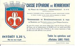 Buvard - Caisse Epargne Remiremont - 59 Nord - Lille - Banque & Assurance