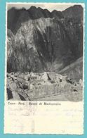 PERU' CUZCO RUINAS DE MACHUPICCHU 1956 - Peru
