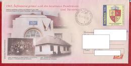 DUMBRAVENI SUCEAVA COAT OF ARMS ROMANIA POSTAL STATIONERY - Enveloppes