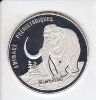 MONEDA DE PLATA DE REPUBLICA CONGO DE 1000 FRANCS DEL AÑO 1994 MAMUT (SILVER-ARGENT) ELEFANTE-ELEPHANT - Congo (República Democrática 1998)