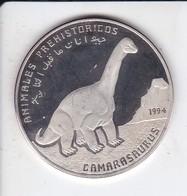 MONEDA DE PLATA DE REPUBLICA ARABE SAHARAUI DE 500 PESETAS DEL AÑO 1994 DINOSAURIO (SILVER-ARGENT) - Western Sahara