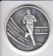 MONEDA DE PLATA DE DJIBOUTI DE 100 FRANCS DEL AÑO 1994 OLYMPIC GAMES 1996 (SILVER-ARGENT) - Dschibuti