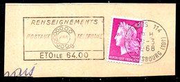 FRANCE. Flamme Sur Fragment Ayant Circulé En 1968. Cadran De Téléphone. - Telecom
