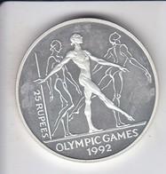 MONEDA DE PLATA DE SEYCHELLES DE 25 RUPEES DEL AÑO 1993 OLYMPIC GAMES BARCELONA 1992 (SILVER-ARGENT) - Seychelles