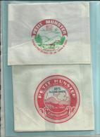 70 - Pont Du Bois - 88 - Anglemont - Lot De 2 Papiers Sulfurisés - Munster- Réf.33. - Publicités