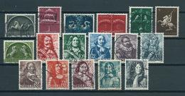 1943/44 Netherlands Complete Set Germaanse Symbolen,zeehelden Used/gebruikt/oblitere - Periodo 1891 – 1948 (Wilhelmina)