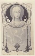 Litho Art Nouveau B.L. Et S Déposé,  E Azambre Vierge Marie (pk58459) - Saints