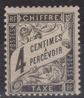 FRANCE  TAXE  1871-78:   Le Y&T 13 Neuf **, Signé Au Dos - Taxes