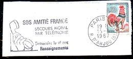 FRANCE. Flamme Sur Fragment Ayant Circulé En 1967. Téléphone/SOS Amitié. - Telecom