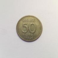50 Öre Münze Aus Schweden Von 1956 (sehr Schön) - Suède