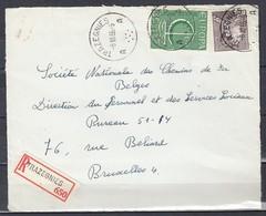 Aangetekend Briefstuk Van Trazegnies Naar Bruxelles - 1936-1951 Poortman