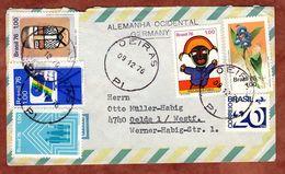 Luftpost, MiF Filmindustrie U.a., Oeiras Nach Oelde 1976 (71699) - Brieven En Documenten
