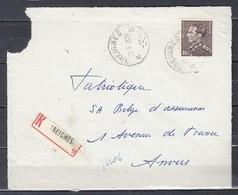 Aangetekend Briefstuk Van Treignes Naar Anvers - 1936-51 Poortman