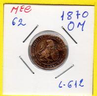 MEC 62 / - Republica Espanhola  - / 51 Centime 1870 OM / Barcelona /- L-612 - Autres