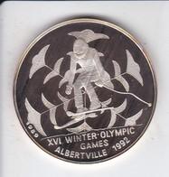 MONEDA DE PLATA DE CAMBOYA DE 20 RIELS DEL AÑO 1989 OLYMPIC GAMES ALBERTVILLE 1992 (SILVER-ARGENT) - Camboya