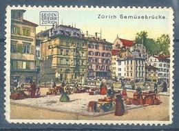 "Vignette  ""Zürich Gemüsebrücke (Seiden Grieder)""      Ca. 1920 - Suisse"