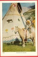 Indiens / Indians; Chef Indien à Cheval / Indian Chief On Horse; Carte Neuve Mais âgée / Mint But Aged Card (0135) - Non Classés