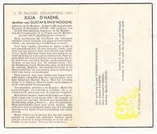 DP Julia D'Haene / D'Hooghe 21j. ° De Mokker Koekelare 1925 † Roeselare 1947 - Images Religieuses