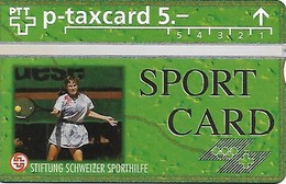 PTT-p: KP-93/56E 401L Stiftung Schweizer Sporthilfe - Sportcard Tennis - Schweiz