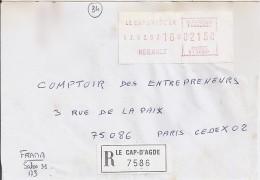 34 - HERAULT - LE CAP D'AGDE GA - 1987 - TàD De Type VIGNETTE - Manual Postmarks