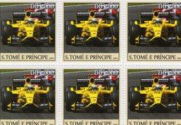 S.Tomé E Principe 2003  -   Grand Prix/Formule 1  -  Jordan-Honda  -  Giancarlo Fisichella   -  6v Feuillet Neuf/Mint - Cars