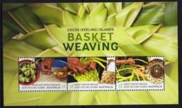 1.- COCOS ISLANDS 2018 MINIATURE SHEET - BASKET WEAVING - Islas Cocos (Keeling)