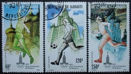 DJIBOUTI Poste Aérienne Série N°135 Au 137 Oblitérés - Timbres