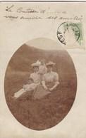 Fotokaart, Carte Photo, 2 Dames 2 Kindjes, Edit Gourdienne JEanne, Liege (pk58488) - Photographie