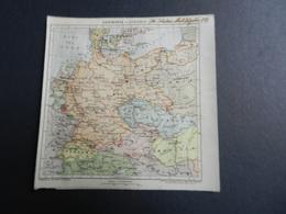8g) GERMANIA E AUSTRIA 1924 CARTA GEOGRAFICA - Carte Geographique
