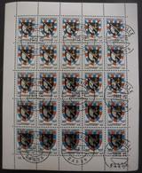 GABON N°290 En Feuille De 25 Oblitérés - Timbres