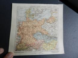 8g) GERMANIA E STATI VICINI LIMITROFI 1929 CARTA GEOGRAFICA - Carte Geographique