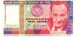 Peru P.142  50000 Intis 1988 Unc - Peru