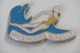 Pin's - Natation NAT SYNCHRO RIPAULT - Swimming