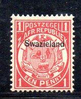 XP5066 - SWAZILAND 1889 , 1 P. Yvert N. 3  Nuovo  * - Swaziland (...-1967)