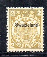 XP5067 - SWAZILAND 1889 , 2 P. Yvert N. 4  Nuovo  * - Swaziland (...-1967)