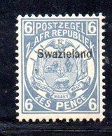 XP5068 - SWAZILAND 1889 , 6 P. Yvert N. 5  Nuovo  * - Swaziland (...-1967)