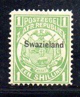 XP5069 - SWAZILAND 1889 , 1 Sh/-   Yvert N. 6  Nuovo  * - Swaziland (...-1967)
