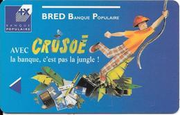 -CARTE+-MAGNETIQUE-CB-BRED/BANQUE POPULAIRE-CRUSOE-09/01-TBE - Cartes Bancaires Jetables