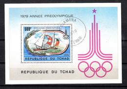 Tsjaad 1979 Mi Nr  Blok 78, Olympische Spelen Moskou 1980, Zeilschip - Tsjaad (1960-...)