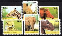 GUINEE 1997 MI.NR. 1631-1636 Einheimische Tiere  USED / GEBRUIKT / OBLITERE 1994 - Guinee (1958-...)