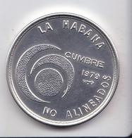 MONEDA DE PLATA DE CUBA DE 20 PESOS DEL AÑO 1979 CUMBRE NO ALINEADOS  (COIN) SILVER-ARGENT - Cuba